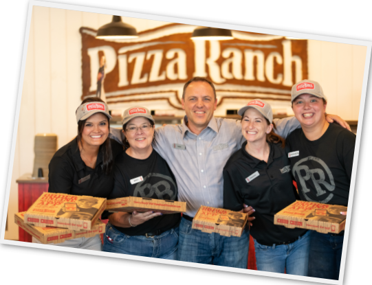 franchise owner and employees